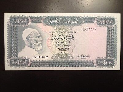 Reproduction Copy Libya 10 Dinars 1972 Omar El Mukhtar And Horsemen