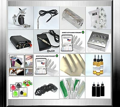 Tattooset (S1 S-Crane) Komplettset Spulenmaschine Tattoomaschine Tattoo Set  TOP
