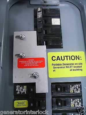 SD-H200A Square D Generator interlock kit 150, 200 Amp Homeline panel LISTED