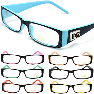 New Mens Womens DG Clear Fake Lens Rectangle Frame Fashion Eye Glasses Nerd Geek