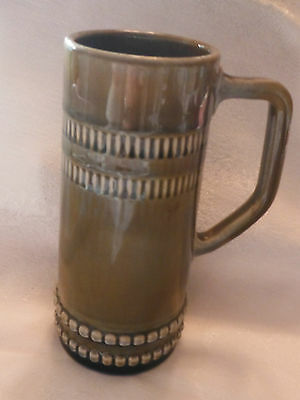 WADE IRISH PORCELAIN TANKARD - TRADITIONAL GREEN 6 1/2 INCH HIGH MUG/STEIN -