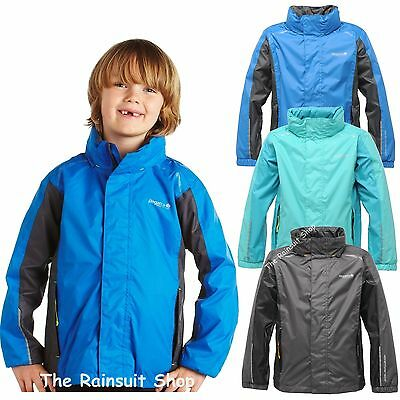 Regatta Tiru Waterproof Kids Rain Coat Jacket Boys Girls Age 3-12Yrs