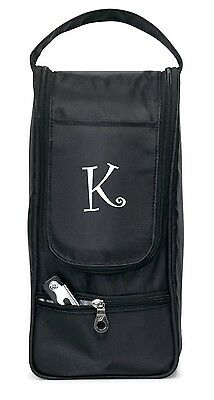 Personalized black Wine Tote bag insulated NEW monogrammed