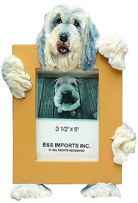 """E&S 35315-81 Bearded Collie Small Picture Frame 2 1/2"""" x 3 1/2"""" NIB"""