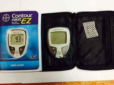 Bayer Contour Next EZ Blood Glucose Meter Plus Carrying Case And User Guide