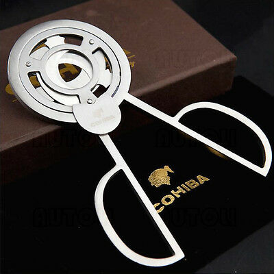 COHIBA Stainless Steel 3 blades Cigar Scissors/Cutter New Boxed
