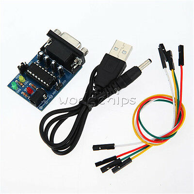RS232 To TTL Converter Module COM Serial Board MAX232CPE Transfer Chip +Cable
