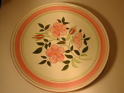 """Stangl Pottery  WILD ROSE 12 1/4"""" Plate With Original Paper Tag"""