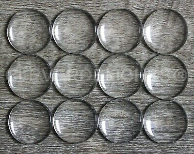 """50 Round Glass Cabochons - 18mm - Clear Magnifying Dome Cab - Craft 11/16"""" Inch"""
