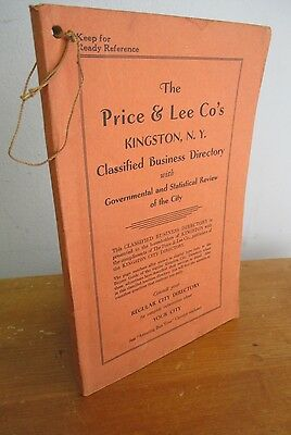 1939 PRICE & LEE KINGSTON NY Classified Business Directory