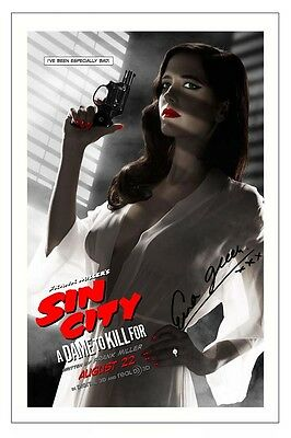 EVA GREEN SIN CITY 2 A DAME TO KILL FOR SIGNED PHOTO PRINT AUTOGRAPH POSTER