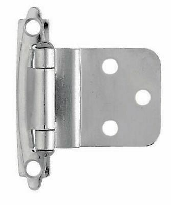 """Lot of 60 (30 Pair) of Nickel 3/8"""" Offset Cabinet Hinges -Target Overstock"""