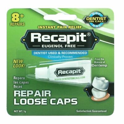 Dentemp Recapit | Repairs Loose Caps | Maximum Hold | Instant Pain Relief 1g