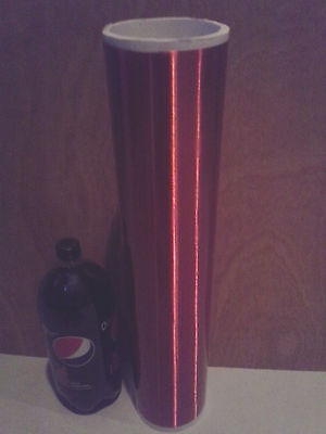 "Red Tesla Coil Secondary 26awg 11"" to 31"" wound on 4.5 inch outer diameter PVC"