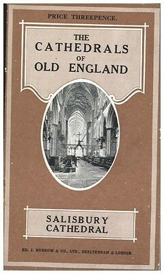 SALISBURY CATHEDRAL UK BURROW'S PENNY GUIDE CATHEDRALS OF OLD ENGLAND 1920s