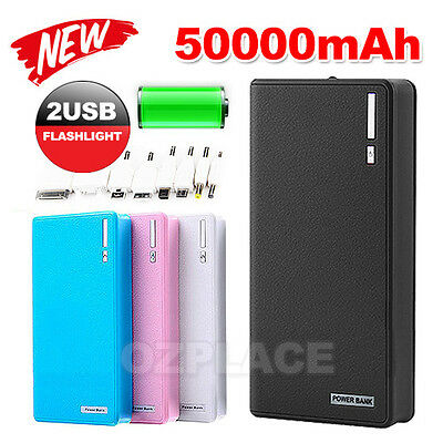 Portable External Battery Charger 50000mAh USB Power Bank For iPhone 5 6 7 plus