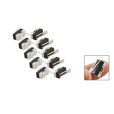 10 pcs AC 125V 1A SPDT 1NO 1NC Long Hinge Lever Micro Switch