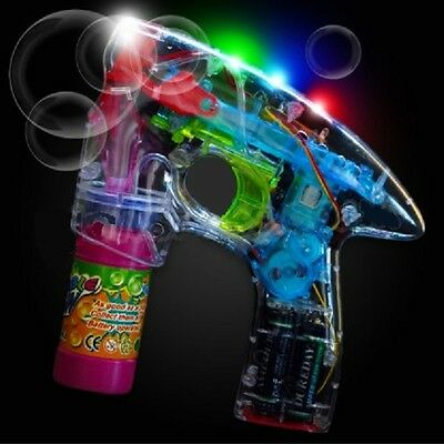 Flashing Bubble Gun With Lights Plus Sound Affects!