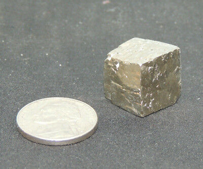 one Pyrite Cube from Logrono, Spain with Display Box (7601)