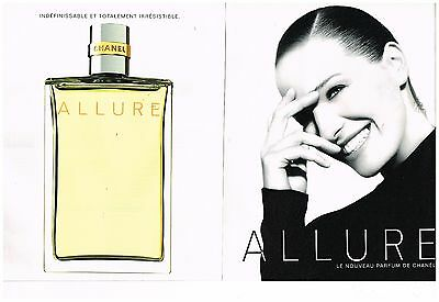 Publicité Advertising 1997 (2 pages) Parfum Allure par Chanel