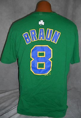 Milwaukee Brewers 8 Ryan Braun Men's Large Mlb Green Shamrock Majestic T Shirt!
