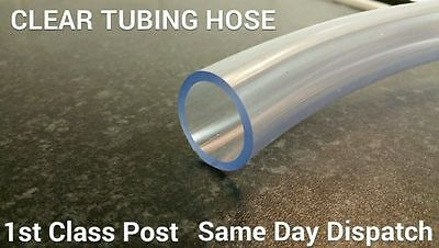 13mm PVC Tube Clear Plastic Hose/Pipe - Food Grade - Fish/Pond/Car/Air