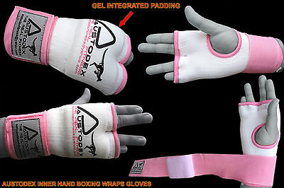 Austodex Ladies Fist Gel Bandages MMA boxing Inner Quick Hand Wraps Gloves women