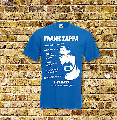 Frank Zappa Hot Rats Gig T Shirt New Black or Blue