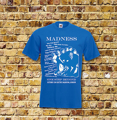 Madness One Step Beyond Gig T Shirt New Black or Blue