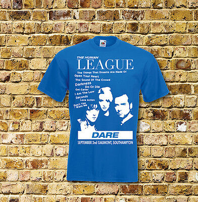 The Human League  Dare Gig T Shirt New Black or Blue