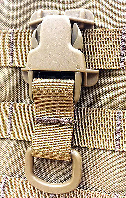Tan Every Which Way Buckle System Military Tactical T-ring Adaptor for Molle