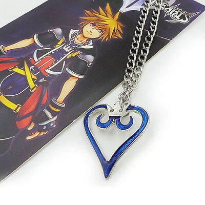 Kingdom Hearts Crown Logo Anime Cosplay Pendant Heart Necklace