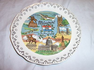 """VINTAGE 7"""" MISSOURI COLLECTOR PLATE  The Show Me State"""