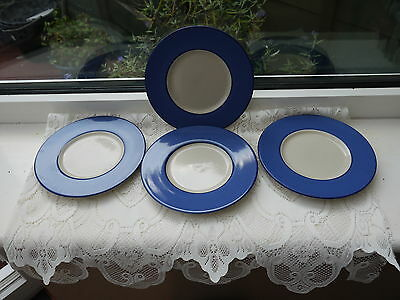 CROMWELL AND MORGAN BLUE AND WHITE TEA PLATES