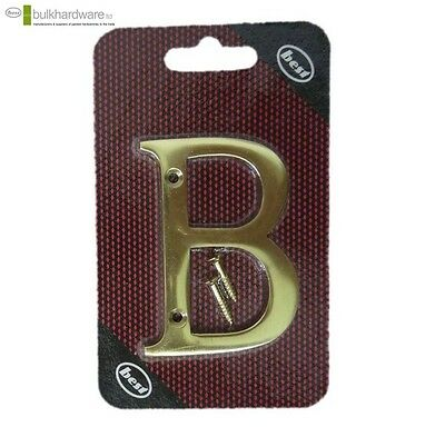 Bulk Hardware Solid Numeral Brass House Door Letter Polished Lacquered (B) New