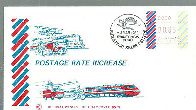1985 33c Barred Edge Frama on Wesley First Day Cover. EXTREMELY SCARCE
