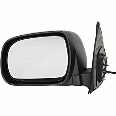 Fits 05-11 Toyota Tacoma Left Driver Mirror Power Non-Painted Manual Folding