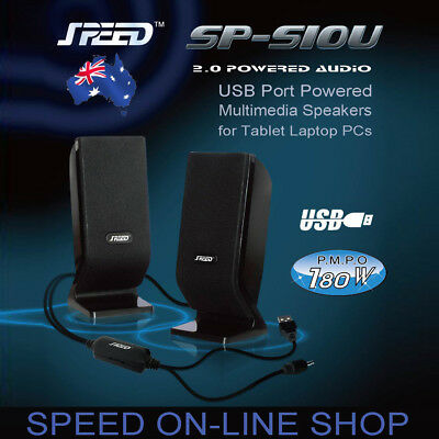 SPEED SP-S10U USB Powered 2.0 PC Speakers for Tablet Laptop Computers - 2017 New
