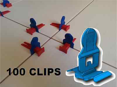 100 Clips Pour Systeme Croisillons Auto Nivelant Perfect Level Classic