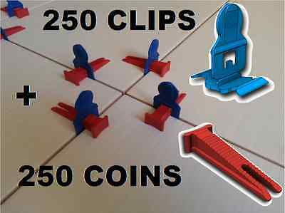 250 Clips/250 Coins Croisillons Auto Nivelant Perfect Level Carrelage Carreleur