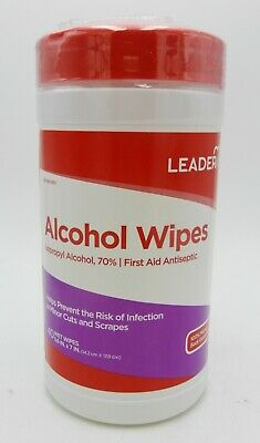 Leader Alcohol Isopropyl 70% Wipes 40 ct 096295120806DT