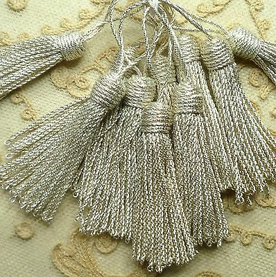 Vintage French Silver METAL Tassels