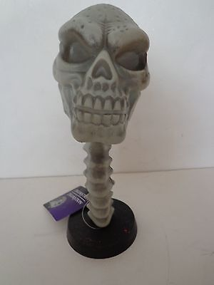 """Skull Bobblehead With Spine Halloween Themed 10"""" Height New"""