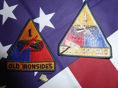 PATCH INSIGNE ORIGINAL 1st ARMORED DIVISION post-war OLD IRONSIDES