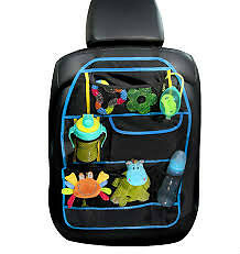 Car Back Seat Organizer Multi Pocket Storage Baby Travel ( Blue  )
