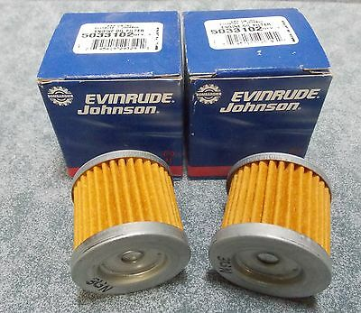 LOT OF 2 BRP EVINRUDE/JOHNSON #5033102 OIL FILTERS 9.9/15 HP NEW OLD STOCK