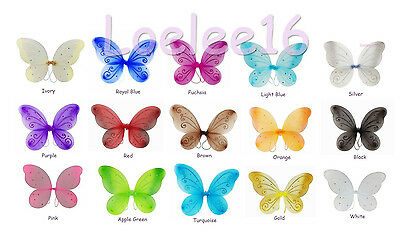 """12 pcs 22""""x15"""" Fairy Wings Butterfly TinkerBell Pixie Dress Up Costume"""
