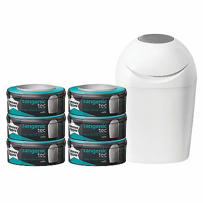 TOMMEE TIPPEE Starter Kit SANGENIC Poubelle à couches + 6 Recharges !!!