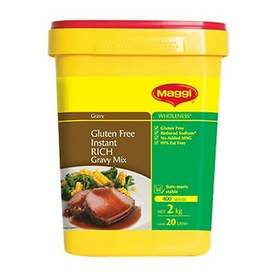 Rich Gravy Mix Instant 2Kg By Maggi - Gluten Free Bb Jan 2020 (Securely Packed)