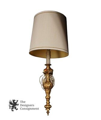 Decorative Gilded Wall Sconce Hanging Accent Lamp Light Fixture w/ Shade